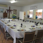 Seder supper set-up