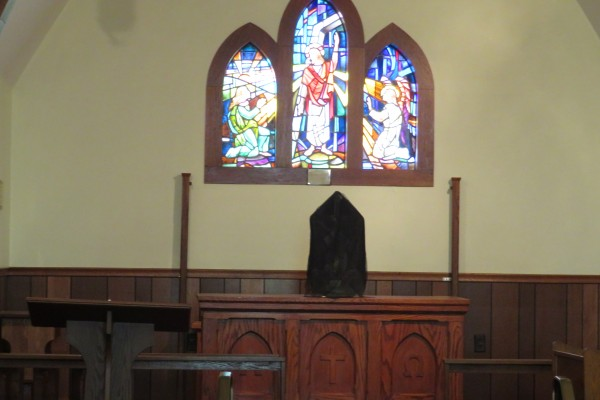 the stripped altar